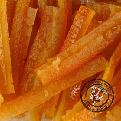 Kandovaná pomerančová kůra (řezy) 500 g/vanička