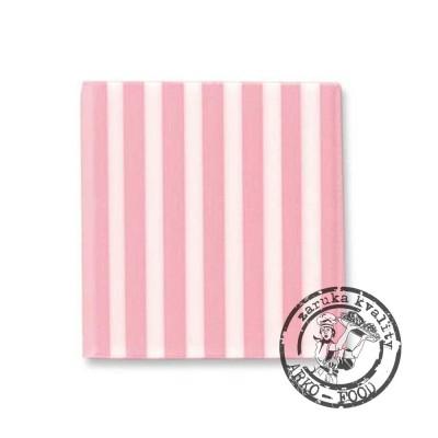 Domino čtverec růžová/bílá 50 ks