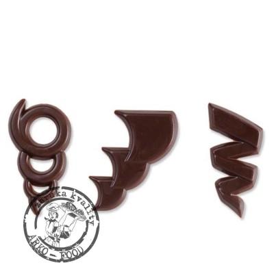 Čokoládové filigrány Maestro, (20x43mm) 50 ks