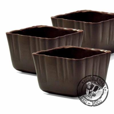 Carrée – košíček tmavý - 20 ks