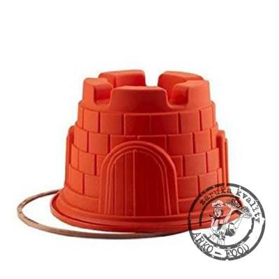 Forma silikonová bábovka (hrad) prům.20, v.14cm