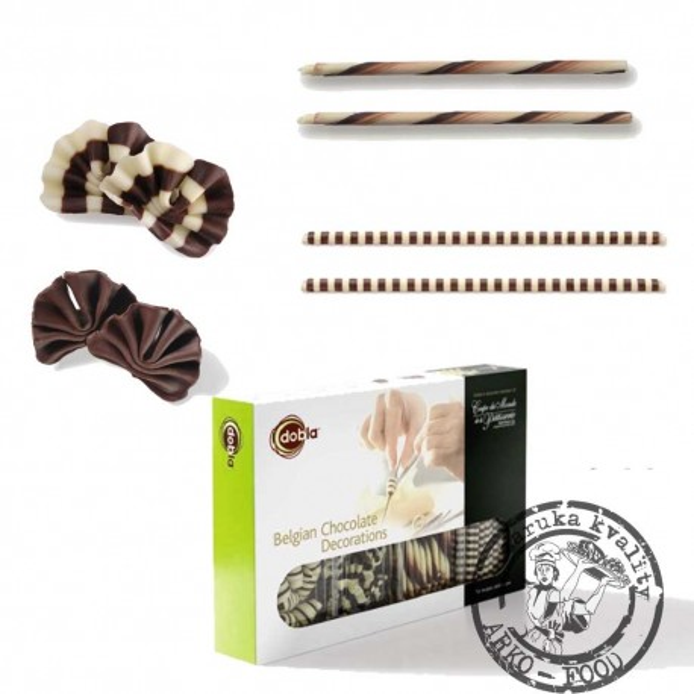 Assortment - forest shavings + cigarillo + mikado - směs, 4 druhy - 90 ks