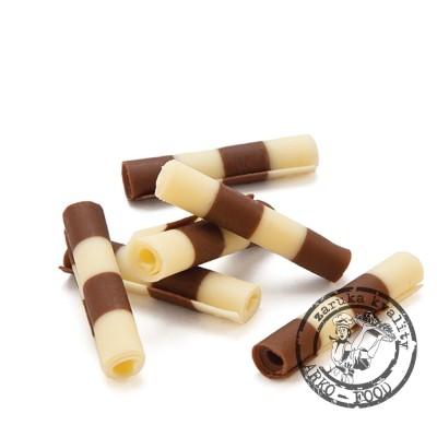 Čokoládové tyčinky Thuja 4-4,5cm (bílo-mléčné) 750g/bal