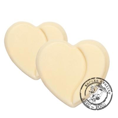 Čokoládové srdce (hořko-mléčné) Duo Hearts v.3,4cm