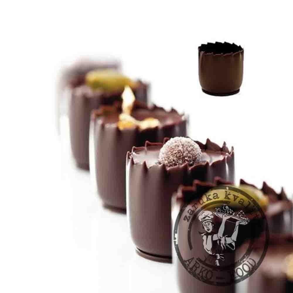 Thimble košíček (25x24) tmavá belgická čokoláda - 36 ks