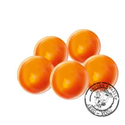 Čokoládové koule Venuše, prům.2,5cm (oranžovo-bílé) 63 ks/bal (200g)
