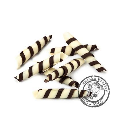 Čokoládové tyčinky Twister 5-5,5cm (hořko-bílé) 1 kg/bal (650ks)