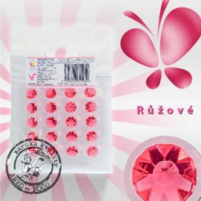 Jedlé diamanty z želé (červené) 20 ks/plato