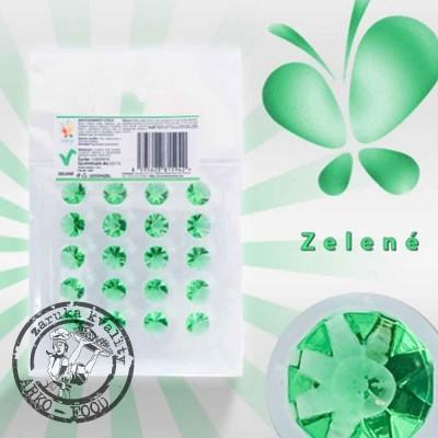 Jedlé diamanty z želé (zelené) 20 ks/plato