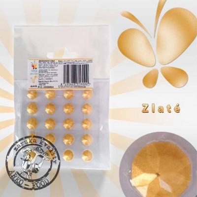 Jedlé diamanty z želé (stříbrné) 20 ks/plato