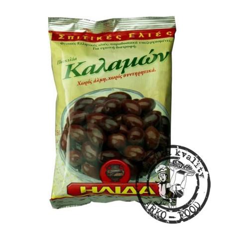 Olivy černé Kalamata s peckou - 250 g