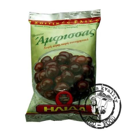 Olivy černé AMFISSA s peckou - 250 g
