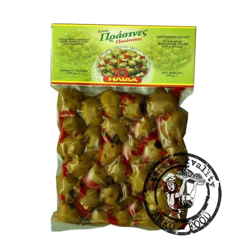 Olivy zelené pikantní s peckou 250 g