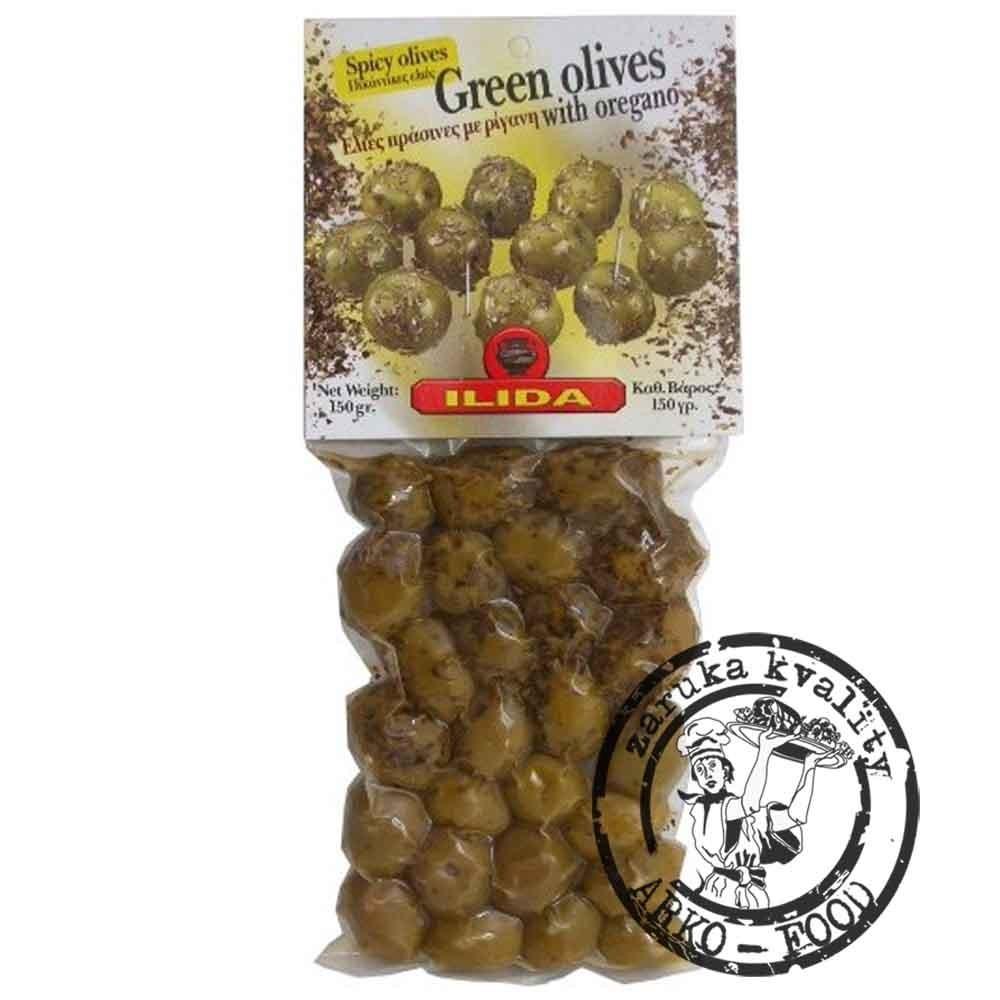 Olivy zelené s oregánem, s peckou 150 g