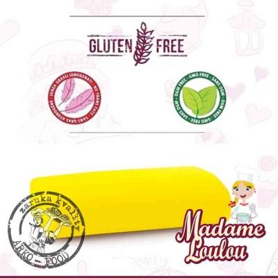 Cukrářská potahovací hmota Madame Loulou ŽLUTÁ ZÁŘIVÁ - Roll Fondant