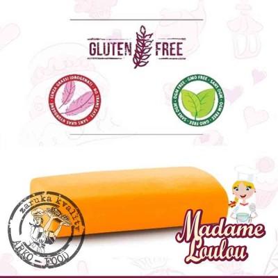Cukrářská potahovací hmota Madame Loulou ORANŽOVÁ ZÁŘIVÁ - Roll Fondant