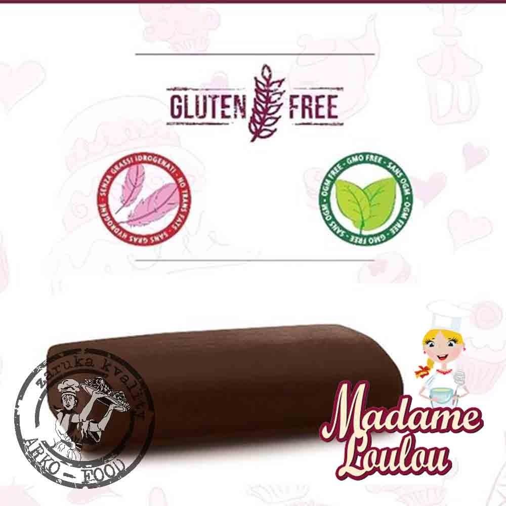 Cukrářská potahovací hmota Madame Loulou HNĚDÁ - Roll Fondant