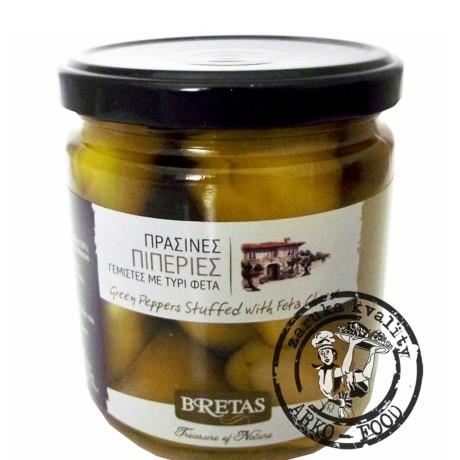 Zelené papričky plněné sýrem, v oleji 360 g