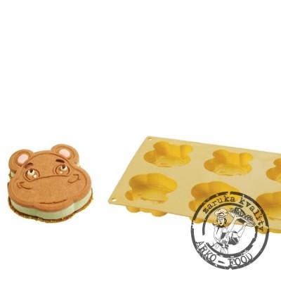 Forma na sušenky a na zmrzlinu hroch Hippo 6x85ml