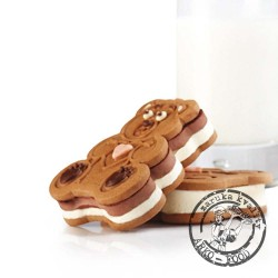 Forma na sušenky a na zmrzlinu medvídek Fosco 6x85ml