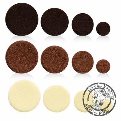Čokoládová kolečka (směs čokoládové dekorace 105ks)