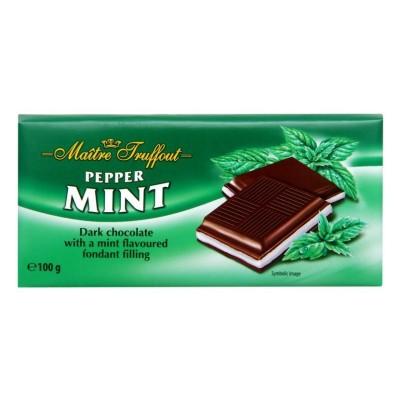 Čokoláda hořká s mátovou náplní 100g