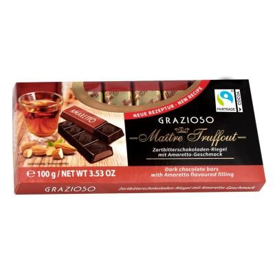Grazioso tmavá čokoláda s náplní amaretového krému 100g