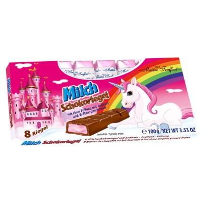 Flamingo mléčná čokoláda s mléčnou náplní 100g Maitre