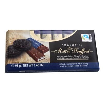 Grazioso mléčná čokoláda s mléčným krémem a kousky sušenek 100g Maitre