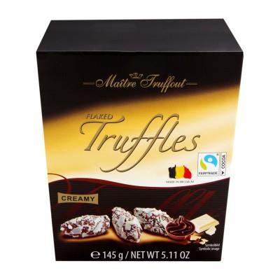 Lanýži s vločkami bílé čokolády 145g Maitre