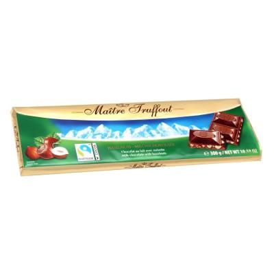 Mléčná čokoláda s lískovými oříšky 300g Maitre