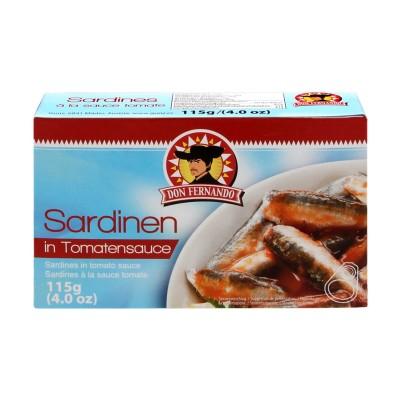 Sardinky v rajčatové omáčce 115g Don Fernando