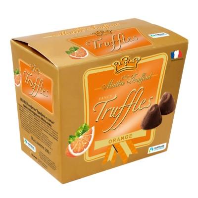 Fancy Gold Truffles čokoládoví lanýži s pomerančovou příchutí 200g Maitre