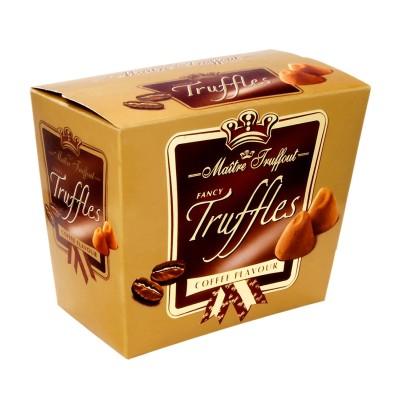 Fancy Gold Truffles čokoládoví lanýži s kávovou příchutí 200g Maitre