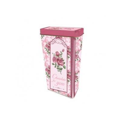 Italské Pralinky v plechové dóze Růžová růže 125g