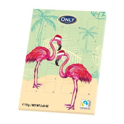 Flamingo adventní kalendář 75g Only