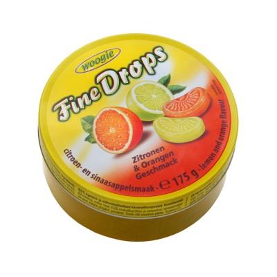Bonbony s citronovou a pomerančovou příchutí 175g Woogie