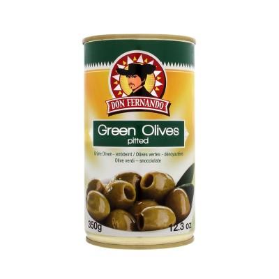 Zelené olivy vypeckované 350g Don Fernando, plech
