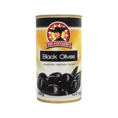 Černé olivy s peckou 350g Don Fernando, plech