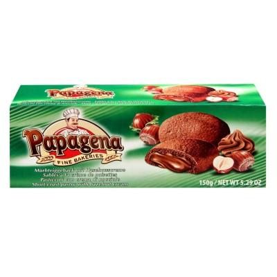 Sušenky s lískooříškovou náplní 150g Papagena
