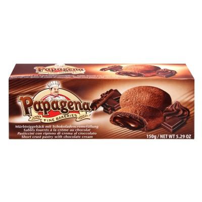 Sušenky s kakaovou náplní 150g Papagena