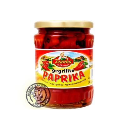 Grilovaná červená paprika v nálevu 580g Ivanka