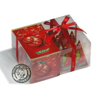 Vánoční koule mix čajů 12x2g Liran