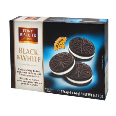 Plněné sušenky Black&White 176g Feiny