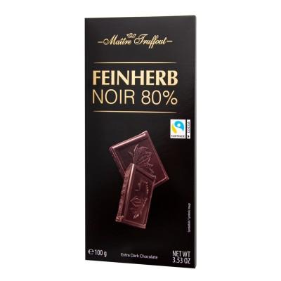Premium Extra hořká čokoláda 80% 100g Maitre