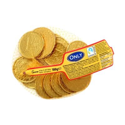 Zlaté mince z mléčné čokolády 100g Only
