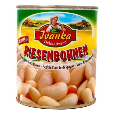 Bílé fazole velké 800g Ivanka