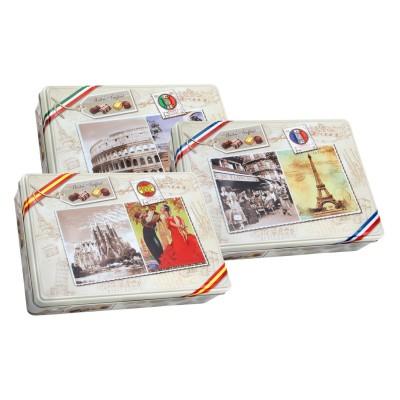 Mix pralinek s obrázky států (3 druhy) 180g Maitre, karton