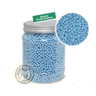 Cukrové perly rýžové 4mm (perleťově světle modré)