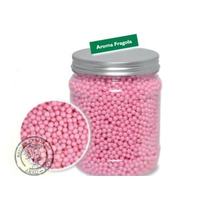Cukrové perly rýžové 4mm (perleťově růžové)